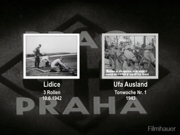 AUSLAND TONWOCHE 1943 Part 1 - DESTRUCTION OF LIDICE 10.6.1942 3 Films