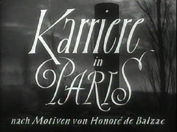 KARRIERE IN PARIS 1952