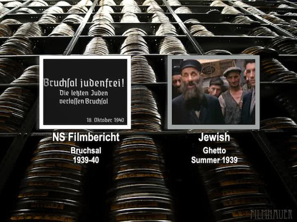 NS FILM REPORT BRUCHSAL 1939 - JEWISH GHETTO SUMMER 1940