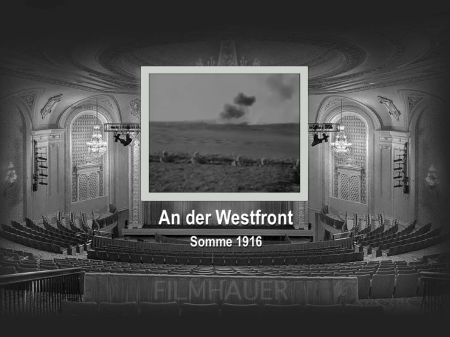 AN DER WESTFRONT SOMME 1916